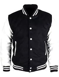 Faux Leather Varsity College Wool Letterman Jacket School Uniform Jersey