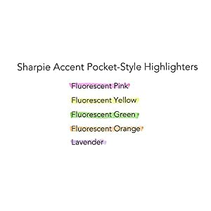 Sharpie Accent Pocket-Style Highlighters, Fluorescent Yellow, 24 Count