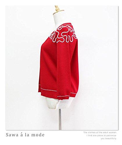 [アラモード] トップス アウター カーディガン ニット 柄 レディース ファッション