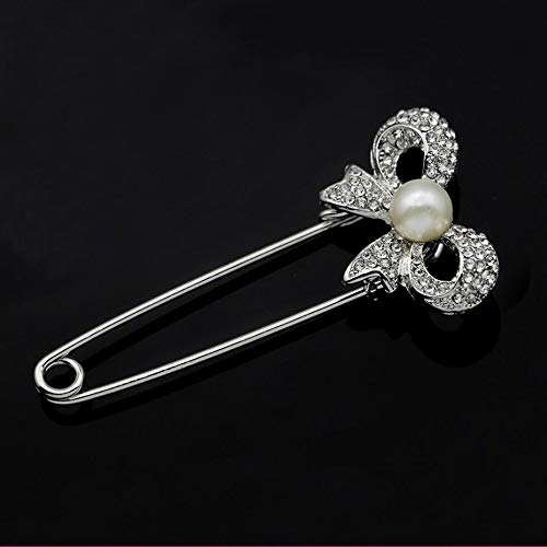 HELUZHBA Pins Rose Safety Pin Broche Rhinestone Mujeres Hombres ...