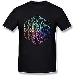 Moonist Men's Coldplay A Head Full Of Dreams Tour Logo T-Shirt