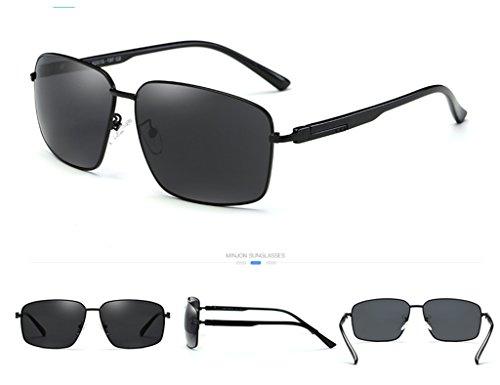 de Black soleil Frame Eye Lunettes Polarizer de frame Couleur Driver Hommes Lunettes Male Mirror soleil Lunettes Black Zfgwnnqa5d