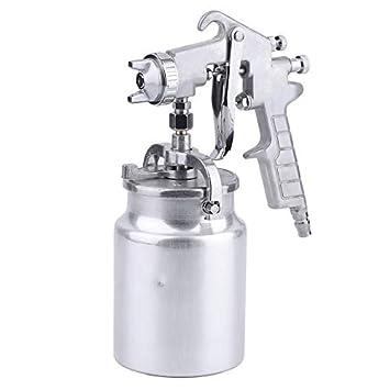Pennyyoga Compresor de Aire Manual de Pintura Pistola de pulverización Profesional pulverizador neumático 1000CC Taza de Aluminio Herramienta de Bricolaje ...