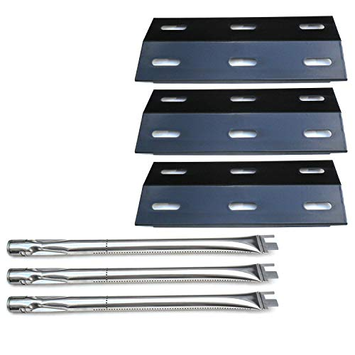 Ducane 3 Burner Stainless Steel - Direct store Parts Kit DG102 Replacement Ducane Gas Barbecue Grill 30400040,3200,3400 Grill Burners & Heat Plates (Stainless Steel Burner + Porcelain Steel Heat Plate)