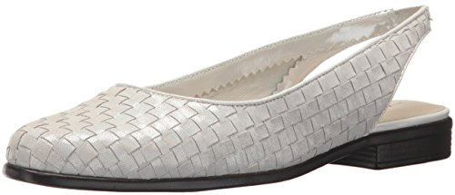 Trotters Women's Lucy Ballet Flat, Off White, 10.0 W US
