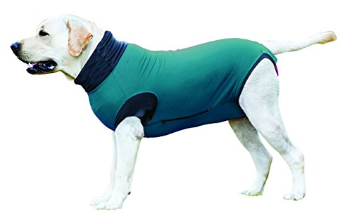 Maxx Medical Pet Clothing & Recovery Dog Shirt E Collar Alternative for Post Surgery, Wounds and Bandages- (M, Pea Blue) ()