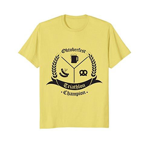 Mens Oktoberfest Triathlon Champion | Funny German Festival Tee Small - Triathlon Deutschland