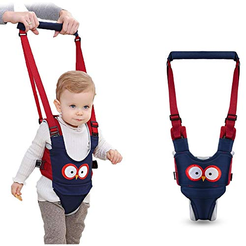 Baby Walking Harness - Handheld Kids Walker Helper - Toddler Infant Walker Harness Assistant Belt - Help Baby Walk - Child Learning Walk Support Assist Trainer Tool - for 7-24 Month Old (Blue)