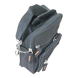 Unisex Small Kahki Olive Polyester Travel Organiser Gadget Pouch Bag – Belt loop and Shoulder Strap