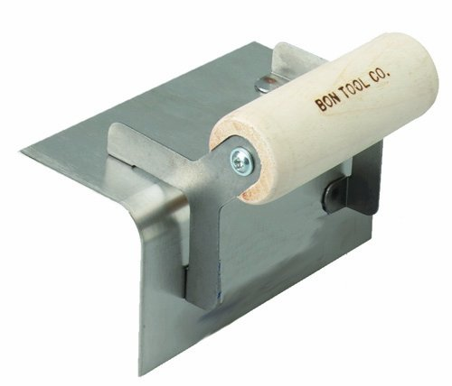 Bon 12-515 6-Inch by 2-1/2-Inch Stainless Steel Step and Corner Outside Tool, 1/4-Inch Radius with Wood Handle (Corner Steel Trowel)
