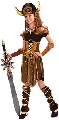 Disfraz Vikinga niña infantil para Carnaval (4-6 años): Amazon.es ...