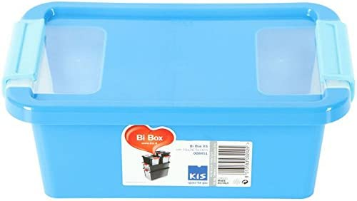KIS Bi Box 8451000 0454 01 – Caja de Almacenamiento de plástico, Azul/Transparente, 3 L: Amazon.es: Hogar
