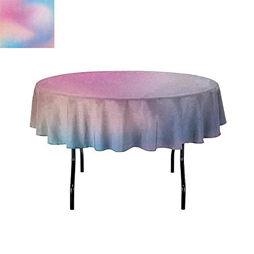 DouglasHill Pastel Washable Tablecloth Abstract Blurry Colors Composition Sweet Daydream Fantasy Miscellaneous Dinner Picnic Home Decor D51 Inch Pink Aqua Peach White