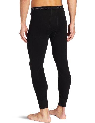 Duofold Men's Mid Weight Wicking Thermal Pant, Black, Medium