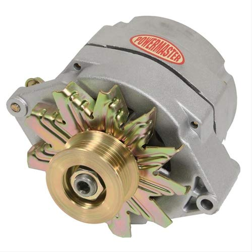 Powermaster Performance 7294-104 Natural Alternator 12SI 100A 6 Groove Pulley 1 or 3 Wire