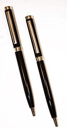 Black Ink Police Uniform/Executive Pens in Attractive Black and Gold