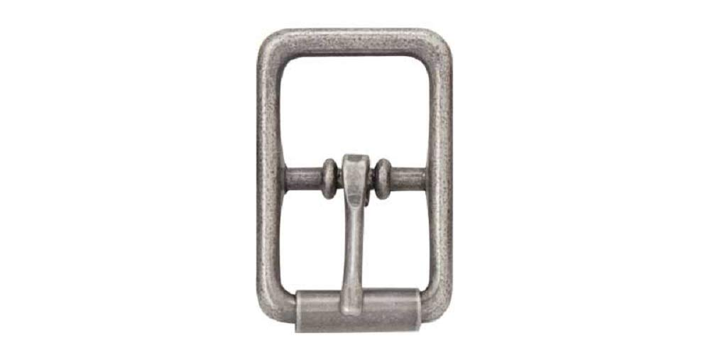 Center Bar Roller Buckles (Nickel Plate, 3/4' (19 mm)) 3/4 (19 mm))