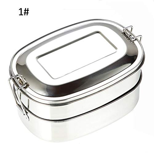 (Lunch Box, Maserfaliw Classic, Best-Selling, Portable,500ml Double Layer Leakproof Stainless Steel Lunch Bento Box Food Container - Single Grid, Home, Gift, Hotel.)
