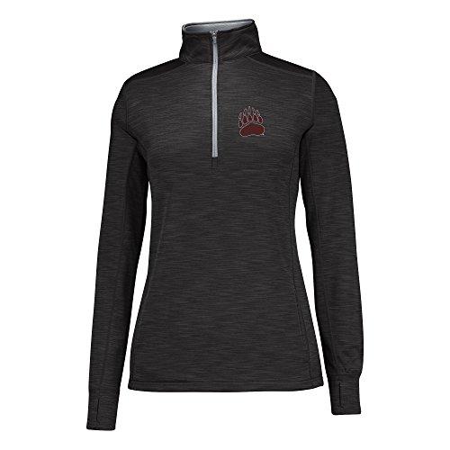 Black Cement (NCAA Montana Grizzlies Women's Courtside Poly Fleece 1/2 Zip Jacket, Medium, Black/Cement)