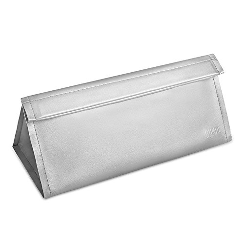 BUBM Travel Portable Storage bag for Dyson Supersonic Hair Dryer, Magnetic Flip PU Leather Moistureproof Anti-scratch Dustproof Shockproof Protection Organizer Travel Gift Case (Silver)