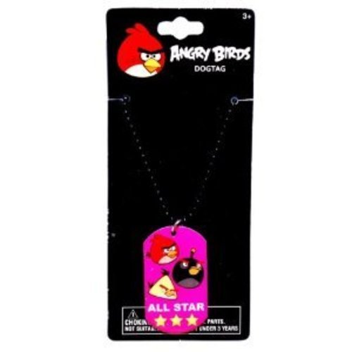 Angry Birds Pink ALL Star Exclusive Dogtag Necklace / Officially Licensed By -