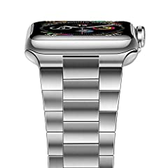 1. Fit wrists of 5.5 -8.07 inches (140mm - 205mm), the length of iwatch 44mm/42mm band can be adjusted by removal tool 2. More thinner than the old style Series 4 stainless steel link band, if you do not like the bulky 44mm /42mm stainless st...