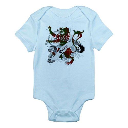 CafePress Bruce Tartan Lion Infant Bodysuit - Cute Infant Bodysuit Baby Romper (Bruce Clan Tartan)