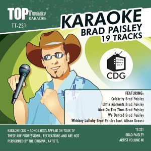 Karaoke Downloads in the style of Brad-Paisley - allstardl.com