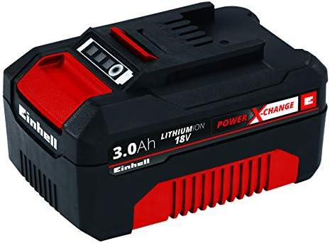 Einhell 4511341 BATERIA Repuesto 18V 3,0Ah min, 18 V, Negro, Rojo, 3.0 Ah, tiempo de carga: 60 minutos