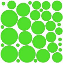 68 Lime Tree Green Polka Dot Wall Stickers Removable Dot Wall Decals