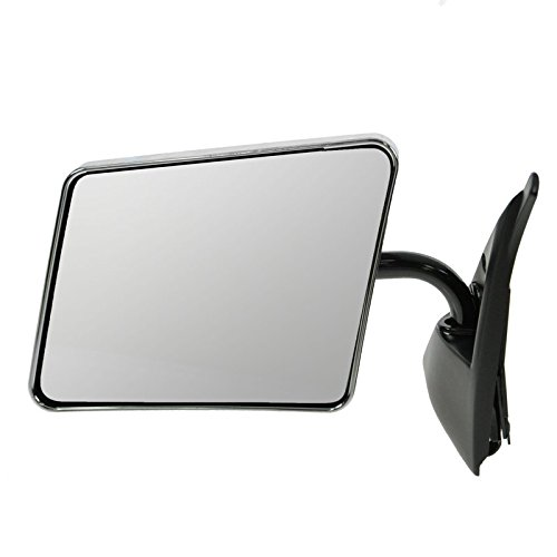 Stainless Steel Chrome Manual Side View Mirror Driver Left for Blazer S10 Jimmy