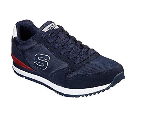 in 52384 NVY Tela Skechers blu Sneakers Scarpe Uomo qxRpptwS4