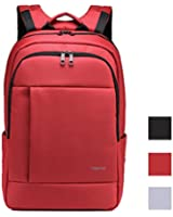 Kopack Red Laptop Backpack Waterproof for Women Men Deluxe 15.6 17 Inch Travel Bag Business Trip Double laptop Compartment