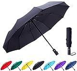 #5: Fidus Large Automatic Windproof Umbrella-10 Ribs Compact Folding Travel Golf Umbrella with Teflon Coating
