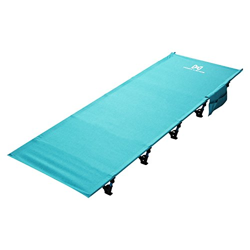 Moon Lence Portable Ultralight Compact Camping Cot Bed With 350 Lbs Bearing Breathable Waterproof Bed Surface,Perfect for Base Camp,Hiking and Hunting (Base Camp Storage)