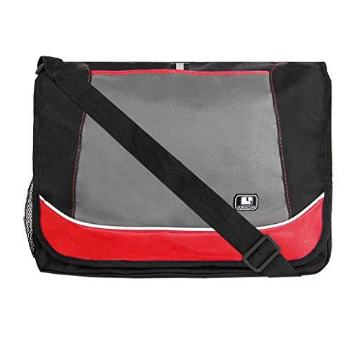 Canvas Laptop Shoulder Messenger Sling Bag for Men and Women Red