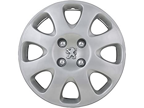 Peugeot – Juego de tapacubos/Juego De Tapacubos 15 Plata, para 307/