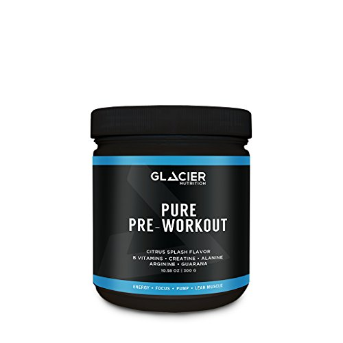 Glacier Nutrition Pure Pre-Workout Powder - 300 g - No Dairy, Gluten, Preservatives or Artificial Ingredients