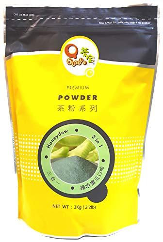 (Qbubble Tea Honeydew Powder, Green, 2.2 Pound)