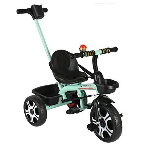 Bicicletas de los niños,Vehículo de Tres Ruedas Carretilla Bebé 1-6 años-Verde 40.2inch
