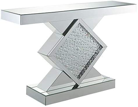ACME Nysa Console Table – 90068 – Mirrored Faux Crystals