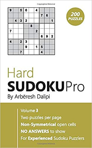 Sudoku: Hard Sudoku Pro Book for Experienced Puzzlers (200