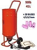 SABLEUSE Mobile sur Roulettes 90lb 41L + 20 BUSES
