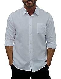 Short Fin Men's Long Sleeve Linen Shirt
