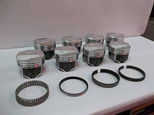Speed Pro/TRW 1966-69 Chevy 427 425/435 HP Forged L2268NF Dome Coated Pistons & Rings Set. (.030