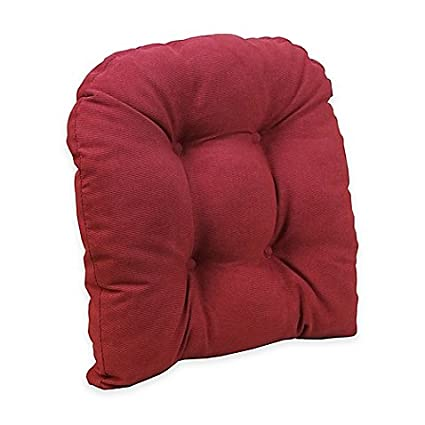 Klear Vu Universal Extra Large Woven Gripper Chair Pad In Red (Red)
