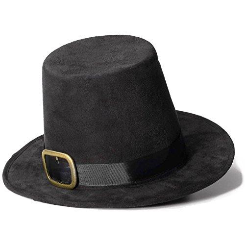 [Super Deluxe Pilgrim Hat Costume Accessory] (Pilgrims Hats)