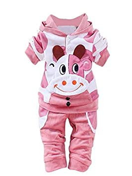 14f7a4b2a803 Newborn Baby Girls Boys Cartoon Dairy Cow Velvet Fleece Jumpsuit ...