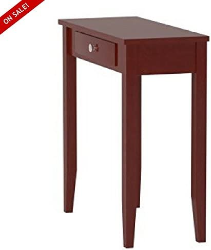 Accent Table for Living Room Home Office Use Contemporary Design Rectangular Shape with Drawer Simple Lines Assembly Required for Entryway Or A Sofa Finish Brown and E- Book by TSR