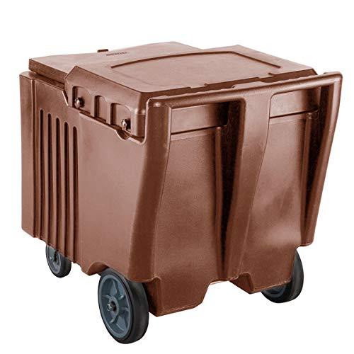 TableTop King 125 lb. Brown Mobile Ice Bin